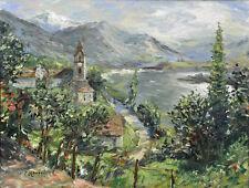 Expressionist Bucht von Ascona signiert P. Lorösch