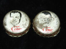 lot of 2 1964-65 Coke hockey caps Ingarfield/McKenzie