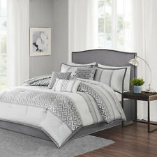 7 Piece Comforter Set / Bed In A Bag - Cal King / King / Queen - 2 Colors