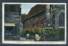 Prägedruck Ansichtskarte Nürnberg Bratwurtsglöcklein