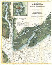 1882 Coastal Survey Map Nautical Chart Beaufort South Carolina