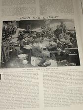 1902 ARTICLE ~ HISTORY GERMAN NAVY HANSABUND 1248 PIC XMAS ON BOARD MAN OF WAR