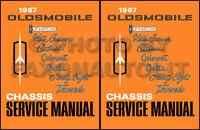 1967 Olds Shop Manual 442 Supreme Cutlass F85 88 98 Delta Oldsmobile Service