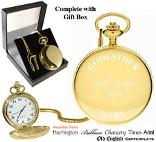 Godfather Personalised Pocket Watch Gold God father