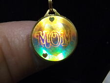 "RARE SOLID / PURE .9999 24K GOLD PENDANT, SIGNED ""Ma"" 2.5 GRAMS, HOLOGRAM ""MOM"""