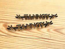 Pair size 2 MINT TANNOY lightning badges badge logo emblem STOCK LOW - Grade A