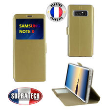 Etui Rabattable Or Avec Ouverture Ecran pour Samsung Galaxy Note 8
