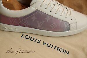Louis Vuitton White Leather Shoes Trainers Sneakers UK 11 US12 EU 45