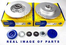 2 X REAR AXLE BRAKE DISC CITROEN BERLINGO C4 DS4-5 PEUGEOT 3008 308 5008 PARTNER