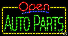 """New """"Open Auto Parts"""" 32x17 Solid/Animated Led Sign W/Custom Options 25453"""