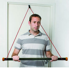 CanDo over door exercise bar and tubing, Black - x-heavy