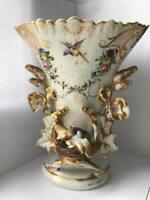 Porcelain vase, transparent glaze, polychrome painting. Christian Fischer