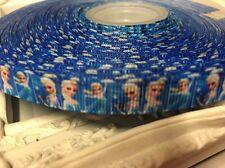 NUOVO 1 METRO congelati Elsa nastro di seta grossa Designer 8mm DOLCI FIOCCO manichino regalo Wrap