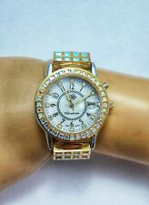 Kirks Folly NWD Unforgettable Illuminted Face Stretch Watch Silver And Gold Tone