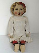 Antique Cloth Doll Art Fabric Mills  Child Doll 1890's