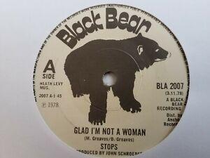 "Stops - Glad I'm Not A Woman - 7"" Vinyl Single"
