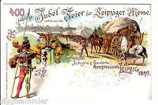 Leipzig AK 1897 400 Jahre Leipziger Messe Litho Ausstellung Sachsen 1511886