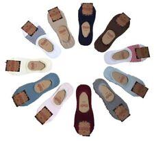 Cotton Blend Footsie Machine Washable Socks for Women