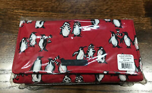 VERA BRADLEY Wallet Crossbody Playful Penguins All-in-One Wristlet RED NWT $58