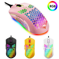65G Wired Lightweight Gaming Mouse 11 RGB Backlit 12000DPI with Honeycomb Shell
