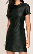 Lipsy Womens Faux Leather Skater Dress Size Uk 12 RRP £38