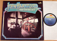 JOHN HARTFORD - Nobody Knows What You Do  (NATURE, D 1977 / LP m-)