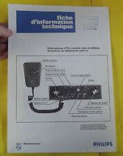 Ancien Fascicules document émetteur - récepteur LTS Mobilophonne  PHILIPS