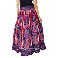 Indian Traditional Pure Cotton Handmade Women Skirt Throw Repron Ethnic Maxi New