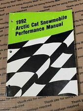 Arctic Cat Snowmobile 1992 Performance Manual 2254-762