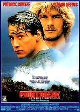Affiche 120x160cm POINT BREAK EXTRÊME LIMITE (1991) Patrick Swayze, Keanu Reeves