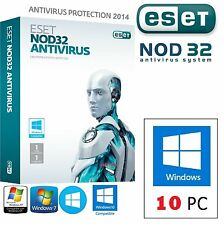 ESET NOD32 Antivirus - 10 PC / 3 ANNI **Link Download + Garanzia + Durata Vera**