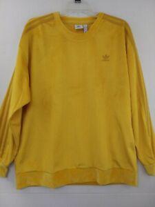 Adidas Women's Large Yellow (Gold) Velour Corduroy Sweater NWOT