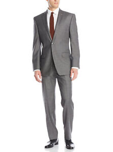 Luciano Natazzi Mens Two Button 2 Piece Suit Set Modern Fit Jacket With Pant