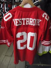 Reebok NFL San Francisco 49ers #20 Brian Westbrook JERSEY ROSSO TAGLIA LARGE