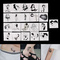 2Pcs Mini Vintage Old School Style Temporary Tattoo Sticker Body Art Fake Taty