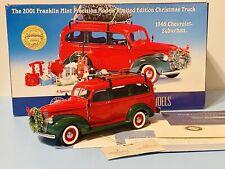 Franklin Mint 2001 Christmas Truck 1946 Chevrolet Suburban B11Z024 0551/9900
