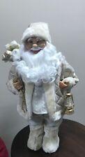 Babbo natale oro con sacco misura 80 musicale arredo natale natalizio