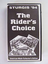Sturgis '94 The Rider's Choice VHS Video Tape RARE