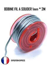 Fil étain à souder 2m 1mm 60% - 40% électronique soudure Fer à Souder Braser