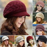 Damen Mütze Beanie Strickmütze Wintermütze Mützen Wollmütze Schirmmütze Winter