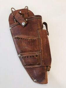 Vintage Leather Drill Drill Bit Holster Belt  Right Hand Made in the USA