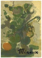 Andre Minaux original lithograph, 1962