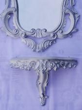 Set m blanc argenté miroir mural + DEPOSE CONSOLE 50X76 ANTIQUE BAROQUE