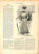 Mode femmes de Paris Fanfreluches robe chapeau redingote toque ILLUSTRATION 1897