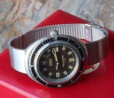 Heavy 1960s/70s vintage watch steel cuff bracelet 19mm w/ steel mesh sizing band