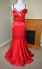 Very Sexy Red Spanish Flamenco Form Fitting Ball Gown Prom or Costume Dress