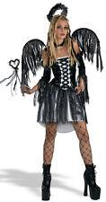 Gothic Fallen Angel Adult Black Demon Costume 12-14