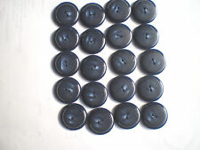 20 CASIEN BUTTONS NAVY WITH HIGHLIGHTS SIZE 25mm