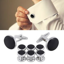 8 PCS Set Mens Cufflinks and Studs Set Tuxedo Shirts Business Wedding Jewelry