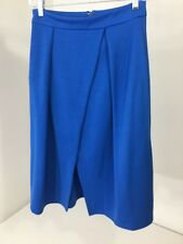 ASOS WOMEN'S  PLEATED JERSEY WRAP SKIRT BLUE UK:8/US:4 NWT